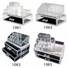 Makeup Cosmetics Jewelry Organizer Display Stand Acrylic Box Storage ABC2