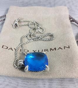 DAVID YURMAN Châtelaine® Pendant Necklace with Large Blue Topaz & Diamonds