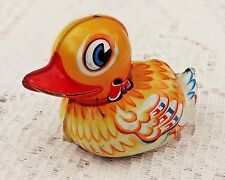 Vintage Lehmann Tin Litho Duck Friction Toy - Paak-Paak 903 Made In West Germany