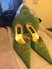 Used Lime Green Stilettos Sandals and Bag.