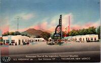 Linen Postcard Tocom-Kari Motel Route 66 in Tucumcari, New Mexico~136863