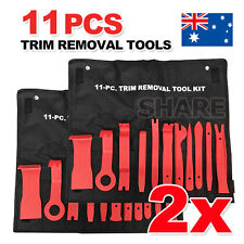 2x 11pcs Auto Car Door Panel Clip Trim Remover Removal Pry Tool Kit with Bag