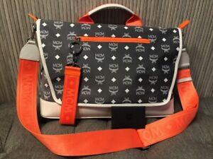 Authentic MCM Resnick Visetos Messenger Bag Nylon / Leather