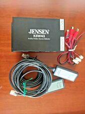 Jensen Ksw43 mobile video switcher 12vdc power four input three output 00004000