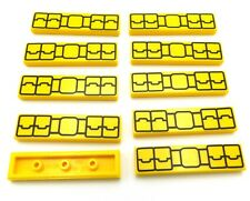 Lego Lot Of 10 New Yellow 1 X 4 Tiles Utility Belt Flat Smooth Piece