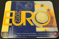 ESLOVAQUIA Coincard 2 EURO 2012 10 Años EURO Nº 5860/7000