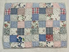 Pottery Barn Kids Blue Multi Floral Quilted Patchwork Pillow Sham Standard Size