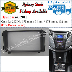 Fascia facia Fits Hyundai i40 i-40 2011+ Double Two 2 DIN Dash Kit
