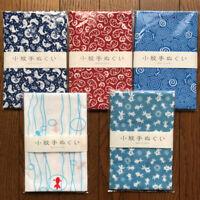 """Japanese printed hand towel ( tenugui ) 5pcs set  made in Japan """"fish"""""""