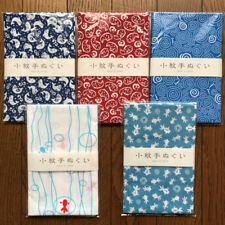 "Japanese printed hand towel ( tenugui ) 5pcs set  made in Japan ""fish"""