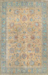 ANTIQUE All-Over Floral Traditional Oriental Area Rug Wool Handmade Carpet 10x13