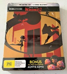 The Incredibles 2 - Limited 4K + Blu-ray Steel Book Edition - New - free Postage