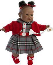Berbesa - Preciosa muñeca Alicia negrita llorona chaqueta roja. Caja (4354)