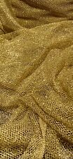 Gold Fishnet Chainmail Mesh/Net Fabric 45'' PRICE PER METER *HOT SELLER*