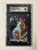 GIANNIS ANTETOKOUNMPO 2019-20 Donruss Optic PURPLE PRIZM SP! SGC MINT 9! #81!