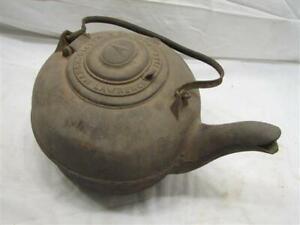 Cast Iron No 7 Cook Stove Top Tea Kettle Pot Teapot Merch Sisler Lawrenceville B