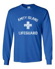 101 Amity Island Life Guard Long Sleeve Shirt movie great white shark ocean jaws