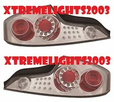 FITS INFINITI G35 COUPE 2003-2005 CHROME LED TAILLIGHTS TAIL LIGHTS OUTER LAMPS