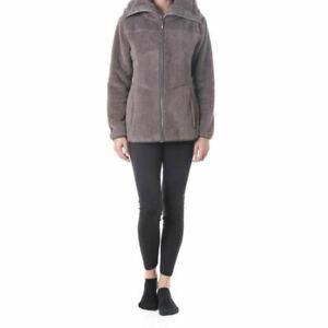 NORTHLAND veste polaire femme Paoline à poils longs & strass, grand col XL neuve