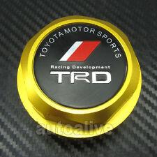 GOLD TRD Engine Oil Filler Cap Fuel Intake Cover Tank for Toyota Lexus Scion