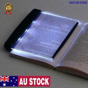 1* Creative LED Book Light Reading Night Flat Plate Panel Lamps Portable AU
