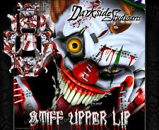 "TRAXXAS X-MAXX GRAPHICS WRAP DECALS ""STIFF UPPER LIP"" RED & WHITE EDITION"