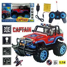 1:14 MARVEL CAPTAIN AMERICA ELECTRIC RC RADIO REMOTE CONTROL 4WD CAR KID BOY TOY