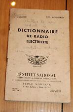 livre radio dictionnaire de radio electricité par geo mousseron 59 pages