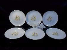 Rhythm by Homer Laughlin VINTAGE GOLDEN WHEAT PLATES DINNER BOWLS USA Set Of 6