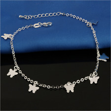 Fashion Lady 925 Silver butterfly Anklet Beach Anklet Jewelry