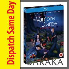 The Vampire Diaries Season Series 3 Complete RB/Aus Blu ray Set three