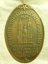 1975 St. Galler Internationale Pferdesportage Horse Show  Plaque.