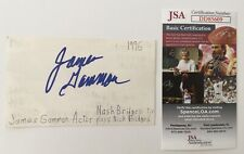 James Gammon Signed Autographed 3x5 Card JSA Certified Major League