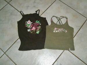 zwei schöne Top´s T-Shirt `s Gr.122/128 TCM khaki + C&A braun