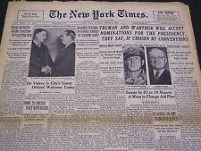 1948 MARCH 9 NEW YORK TIMES - TRUMAN & M'ARTHUR WILL ACCEPT NOMINATIONS- NT 4412