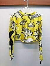 Spyder padded armored elbows shirt Yellow Ski Racing slalom downhill 1/2 top GUC