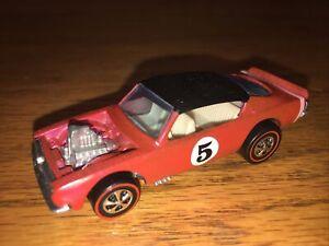 Hot Wheels REDLINE 1970 King Cuda hot pinkBEAUTIFUL RESTORED CAR! WHITE INTERIOR