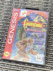 Castlevania Bloodlines (Sega Genesis, 1994) COVER ART & CASE ONLY READ!