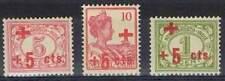 Nederlands-Indië ongestempeld 1915 MH 135-137 - Rode Kruis / Red Cross