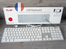 LMP Alu Mac USB Tastatur m. Ziffernblock Apple Keyboard FR franz (AZERTY) Silber