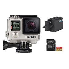 GoPro Hero4 Bundle HD Video Camera 1080p Wifi Waterproof Silver LN
