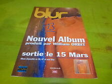BLUR 13 !!!!!!!!!!!!!!!!!!!!!!RARE FRENCH CARDBOARD PROMO DISPLAY