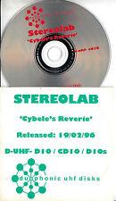 STEREOLAB Cybele's Reverie 1996 UK 4-trk promo test CD