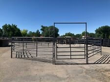 Mountain Country Equipment 60' Ft Horse Round Pen Arena Corral Panels W/Bow Gate