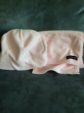 LANDS' END GIRLS LIGHT PINK WINTER HAT CAP AND MATCHING SCARF - USED
