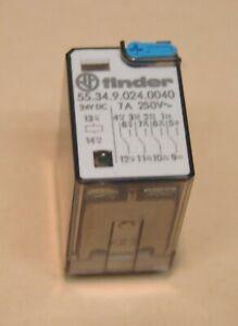 Finder Relais 24VDC 7A  (55.34.9.024.0040) und LED und Prüftaste NEU