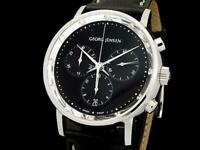 Georg Jensen KOPPEL 417 Chronograph Diamond Quartz Shell Dial Stainless Men's
