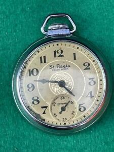 Vintage Ingraham St. Regis pocket watch with box - Good condition - works