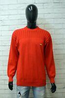 Maglione Fila Uomo Size S Pullover Felpa Sweater Cardigan Lana Rosso Vintage