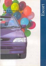 Ford Escort Cabriolets 1994 Original UK Sales Brochure Pub. No. FA 1171